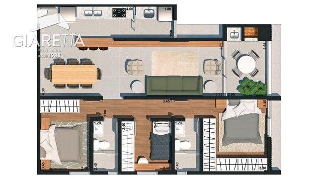 Apartamento com 3 dormitórios à venda,128.00 m², VILA INDUSTRIAL, TOLEDO - PR - Foto 8