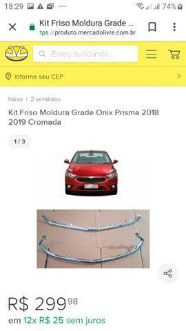 Grade e friso cromado prisma e  ônix 2018 2019 - Foto 6