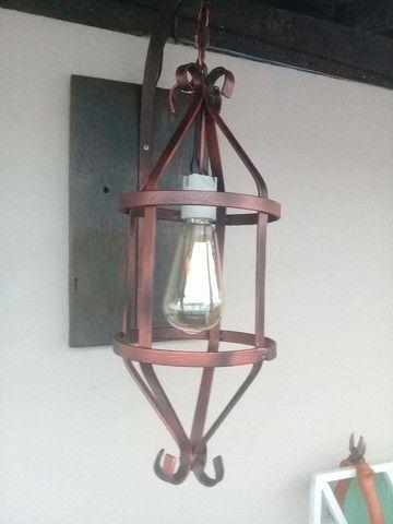 Luminária Rustica  - Foto 2