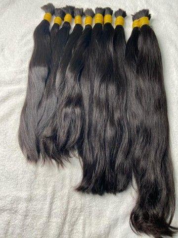 Cabelo natural liso 50, 60 e 70cm