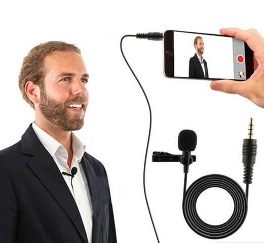 Microfone Celular Smartphone Youtuber Lapela Iphone Android conexão P3 - Foto 3