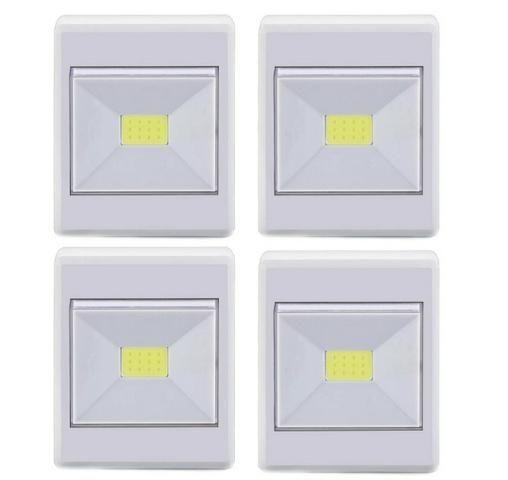 Kit 4 Luminarias LED Botão A Pilha 3W Branca - Elgin - Foto 2