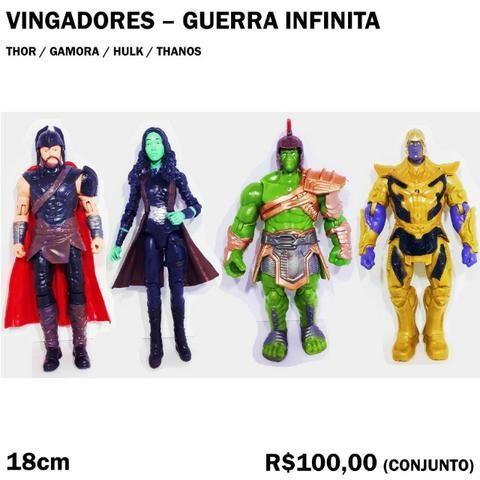 Conjunto Vingadores Guerra Infinita Thor, Gamora, Hulk, Thanos