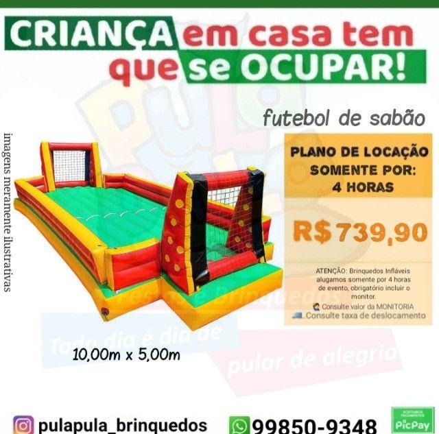 Promoção Aluguel - Tobogã Gigante + Pula Pula 3,66m - Foto 5