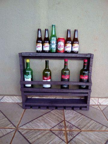 Porta bebidas rústico de parede 40 reais por unidade - Foto 3