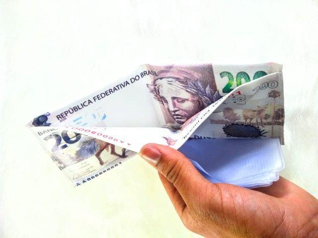 Carteira Masculina Estampa Dinheiro - Foto 3