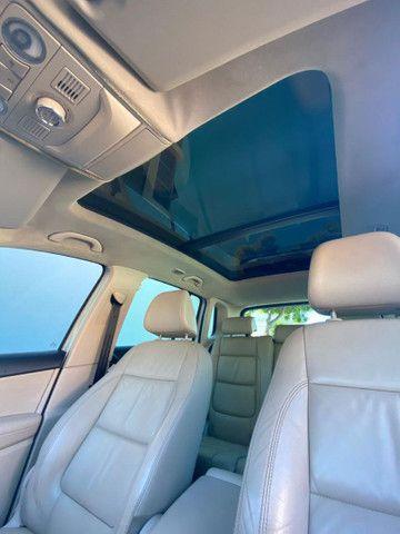 VW Tiguan 2.0 TSI 2011 top de linha com rodas 18, teto solar e interior caramelo - Foto 8