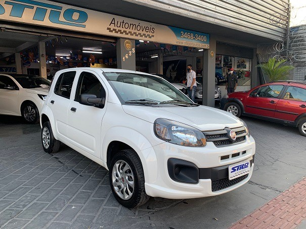 Fiat Uno Attractive 1.0 Flex 2020/2020 Branco Cód. 2055 - Foto 3