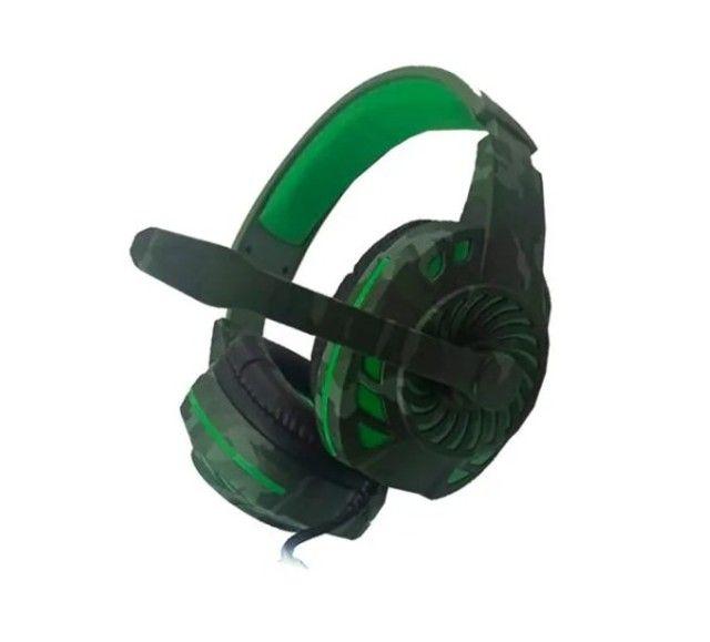 Fone De Ouvido Headset Gamer Tecdrive Px-2 Verde Com Azul - Foto 2