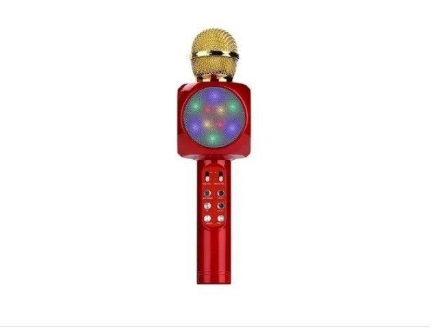 Microfone Sem Fio Bluetooth Karaokê Led Lelong Le 915 - Foto 2