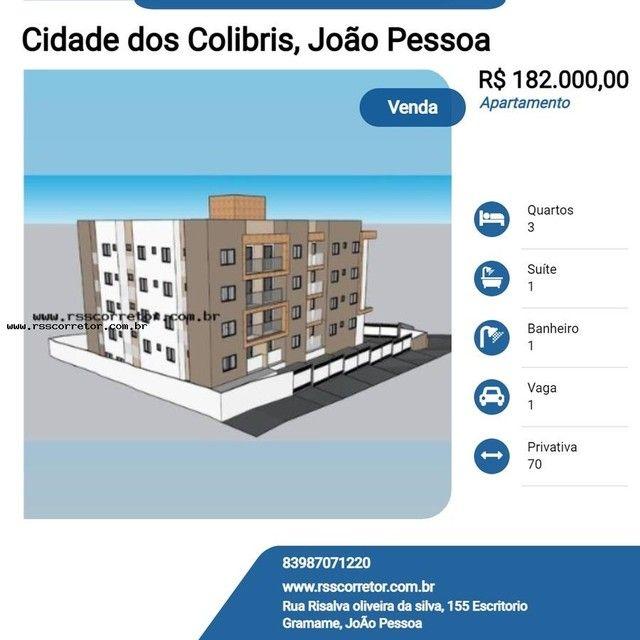 Apartamento para Venda em João Pessoa, Cidade dos Colibris, 3 dormitórios, 1 suíte, 1 banh