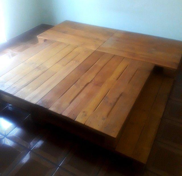 Cama de Pallets Deck de Madeira