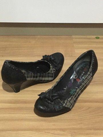 Sapato salto alto xadrez - Foto 2