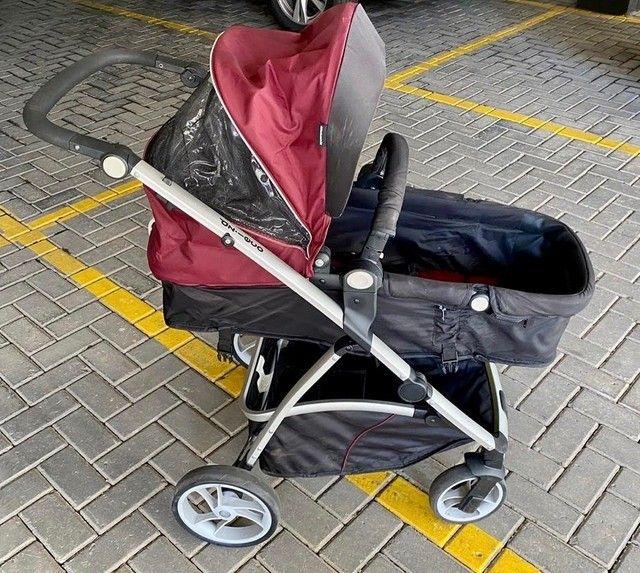 Carrinho de Bebê Dzieco Maly com bebê conforto e suporte para carro - Foto 2