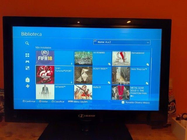Playstation 4 Slim 1tb com 40 jogos. - Foto 4