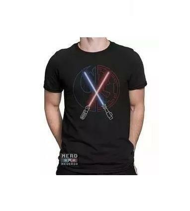 Camiseta Star Wars - Sabres de Luz NOVA!!