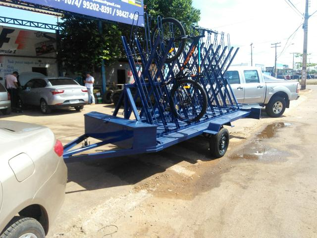 Carretinha para Transporte de 20 bicicletas - Fabricação