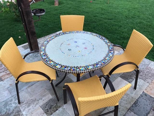 Tampo de mesa mosaico varios modelos sob medida - Foto 5