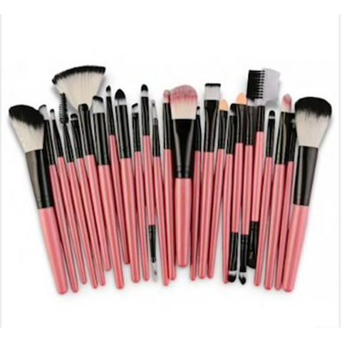 Kit Pincéis de Maquiagem Profissional - 25pcs Melhor custo x Beneficio