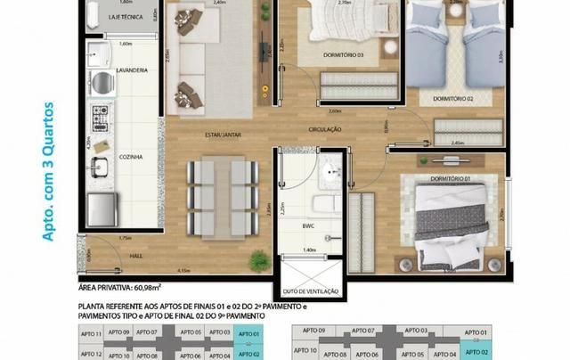 Apartamento 2 qts 50m2 * com desconto na entrada - Foto 5