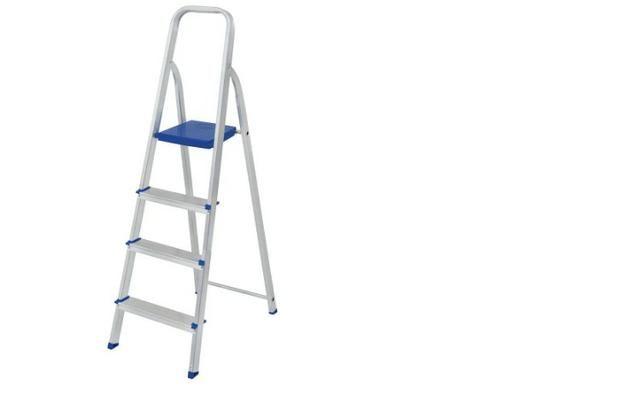 Escada Alumínio 4 Degraus MOR produto novo