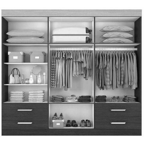 Guarda roupas + espelho - 6 portas pague na entrega direto do fabricante peça já - Foto 2