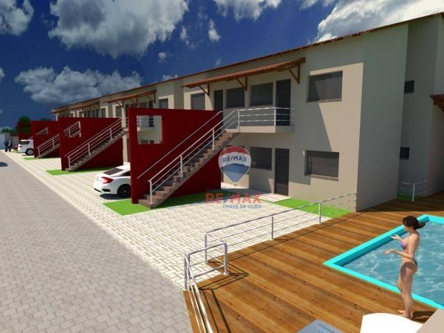 Apartamento com 2 dormitórios à venda, 65 m² por r$ 165.000,00 - cambolo - porto seguro/ba
