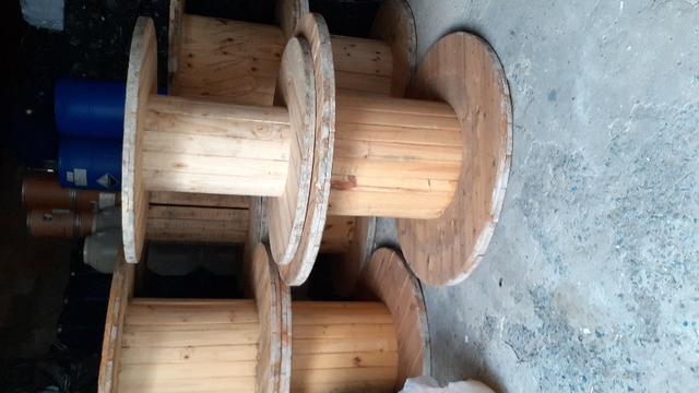 Bobina e Tampo de bobina para mesa rústica - Foto 5