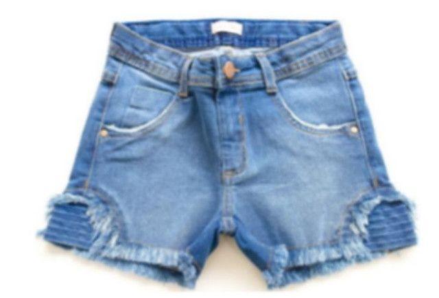 Short jeans juvenil menina