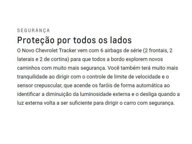 CHEVROLET TRACKER 1.0 TURBO FLEX LT AUTOMÁTICO - Foto 7