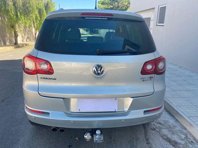 VW Tiguan 2.0 TSI 2011 top de linha com rodas 18, teto solar e interior caramelo - Foto 5