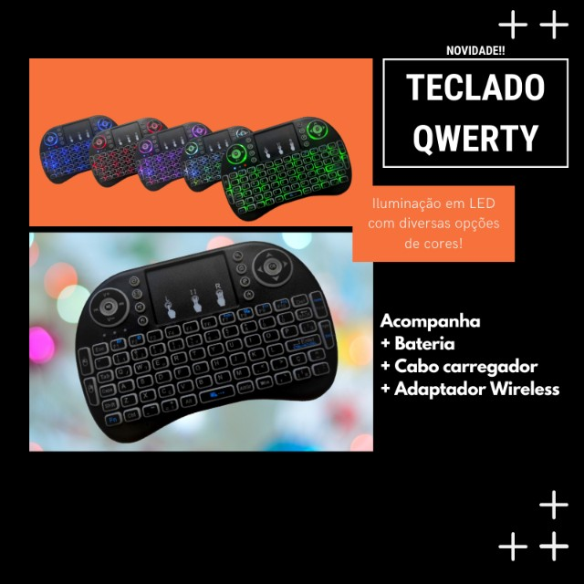 Controle - Teclado Qwerty (Para tvb0x, console, computador, etc)