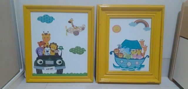Quadro quarto de bebê Safari - Desapegos - Foto 2