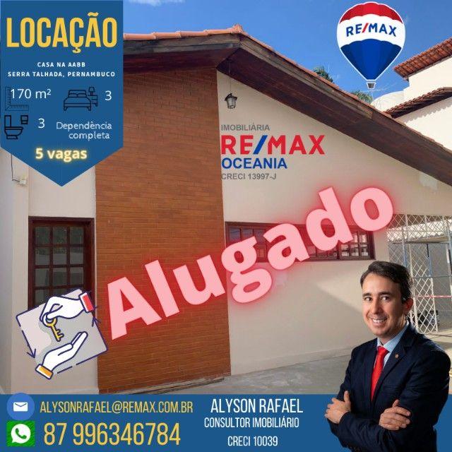 NM Alugo Casa em rua principal de Serra Talhada