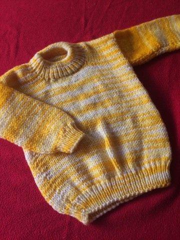 Blusão de lã bem grosso ! Novo 50  - Foto 3