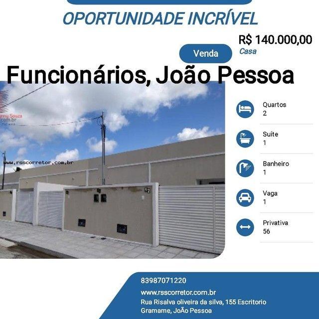 Casa para Venda em João Pessoa, Funcionários, 2 dormitórios, 1 suíte, 1 banheiro, 1 vaga