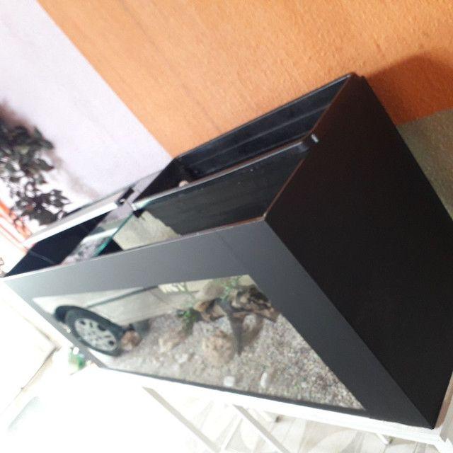 SUPER AQUÁRIO  COMPLETO 300 LT com suporte e decoração.  - Foto 6