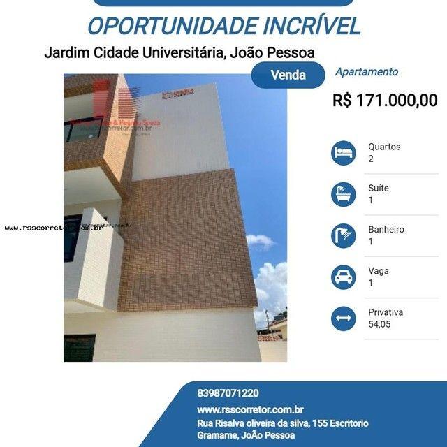 Apartamento para Venda em João Pessoa, Jardim Cidade Universitária, 2 dormitórios, 1 suíte