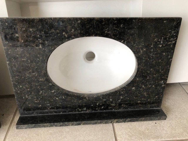 Pia de granito pra banheiro
