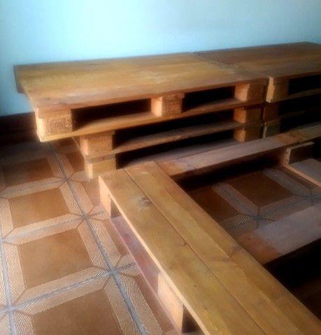 Cama de Pallets Deck de Madeira - Foto 3