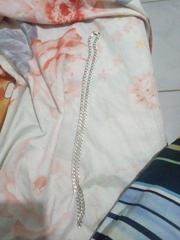 Corda de prata semi nova  - Foto 2