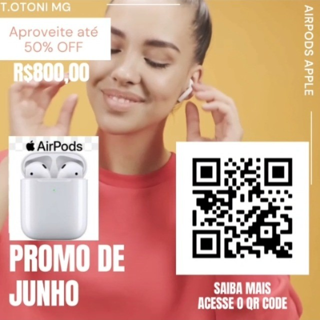 Airpods Apple original Fone Bluetooth