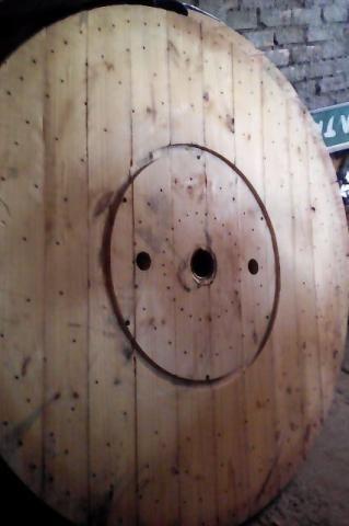 Bobina e Tampo de bobina para mesa rústica - Foto 2