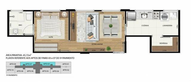 Apartamento 2 qts 50m2 * com desconto na entrada - Foto 9