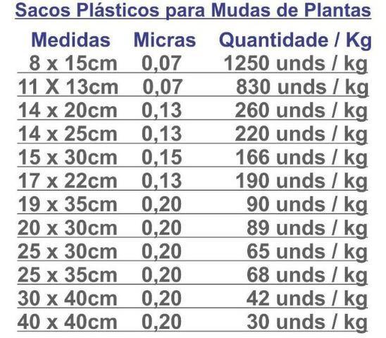 Saco Plástico Para Mudas De Plantas - Foto 3