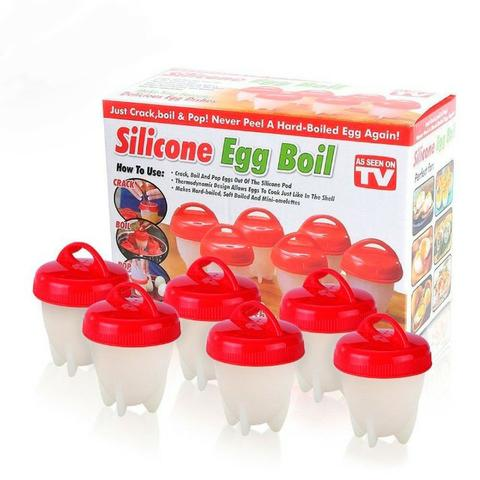 Kit de 6 Formas de Silicone Para Cozinhar Ovos - Foto 2