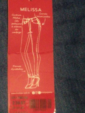 Calça jeans Biotipo Feminina Melissa n42 nova - Foto 4