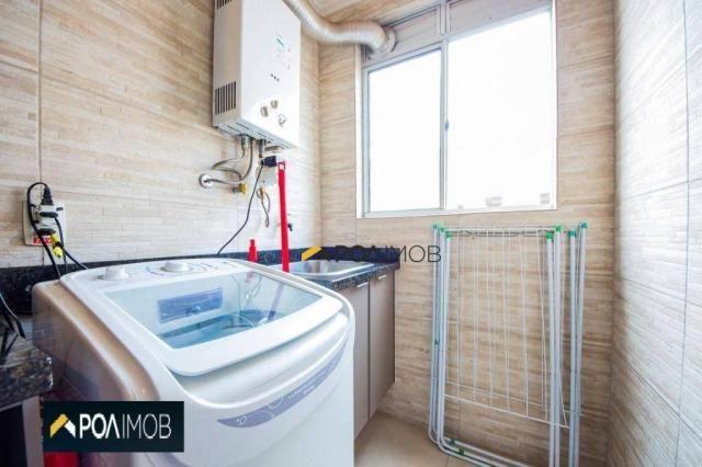 Apartamento com 2 dormitórios para alugar, 54 m² por R$ 1.800,00/mês - Protásio Alves - Po - Foto 14