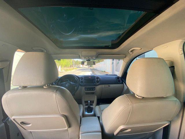 VW Tiguan 2.0 TSI 2011 top de linha com rodas 18, teto solar e interior caramelo - Foto 11