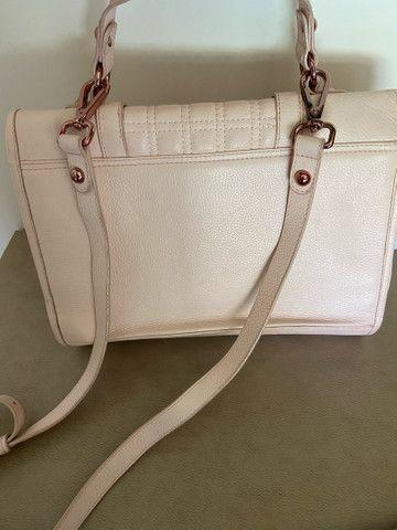 Bolsa feminina JORGE BISCHOFF rosa, original e em excelente estado  - Foto 2